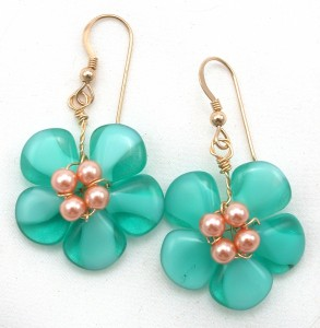 five-petaled flower earrings