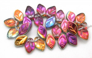 illustration of Leaf/flower beads